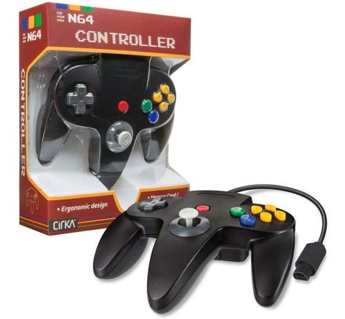 control para nintendo 64 n64 negro cirka m05786