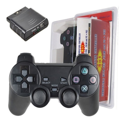 control pc inalambrico ps3 ps2  dualshock 3 en 1