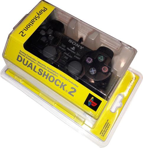 control playstation control ps2 sony dualshock 2 color negro
