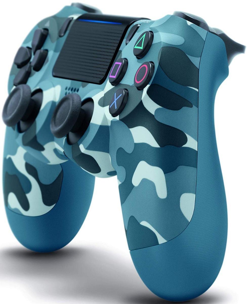 fba9f0ea5ad69 Control Ps4 Camuflado Azul Dualshock 4 Playstation 4 Blue ...