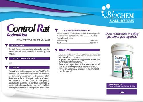 control rat 25gr veneno para ratas bromadiolona rodilon