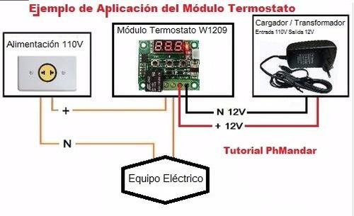 control regulación temperatura termostato incubadora cava ..
