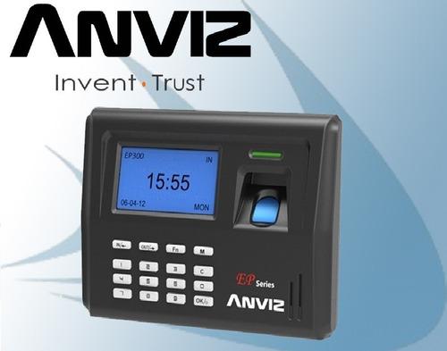 control reloj horario personal asistencia anviz huella ep300