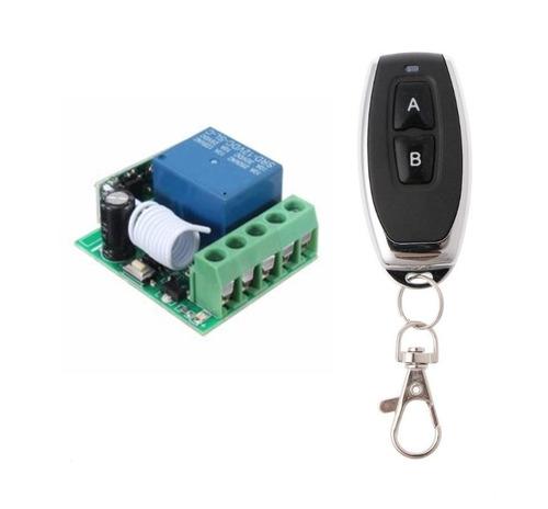 control remoto 2 canales y 1 receptores 1c 433mhz domotica
