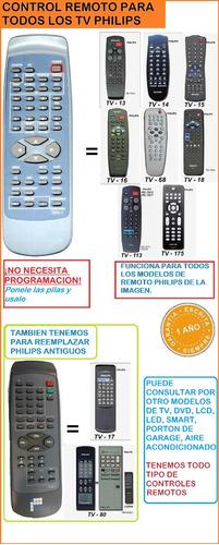 control remoto 7011-1 todos los philips tv 1 año garantia