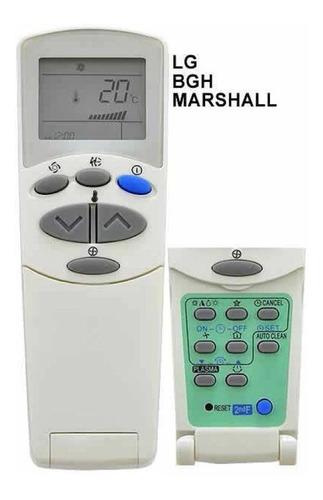 control remoto aire acondicionado marshall lg bgh ar-809