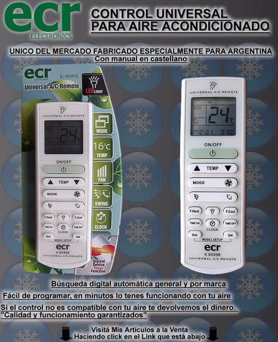 control remoto aire acondicionado para lg universal