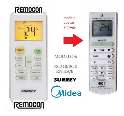 control remoto aire acondicionado para rg 52 surrey midea