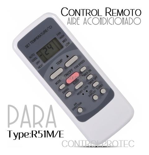 control remoto aire acondicionado r51m/e original ar-800