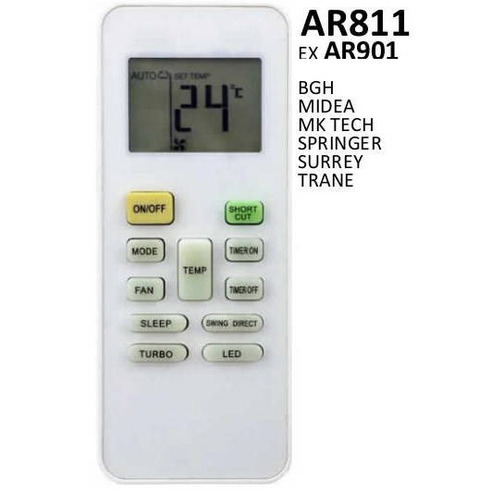 control remoto aire acondicionado split surrey rg52b/e