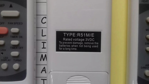 control remoto aire acondicionado zenith frio calor envios.