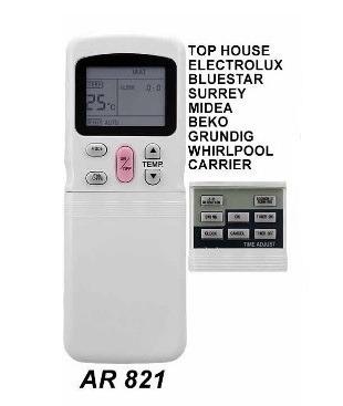 control remoto ar821 aire acondicionado top house beko midea