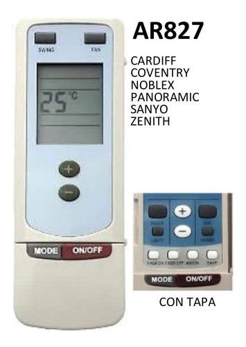 control remoto ar827 aire acondicionado noblex sanyo zenith