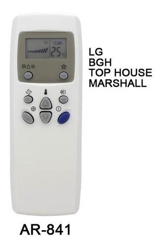 control remoto ar841 aire acondicionado top house bgh lg
