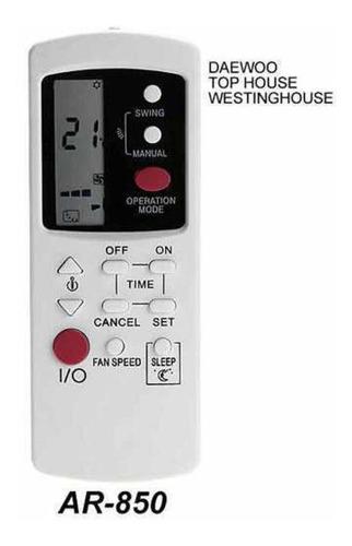 control remoto ar850 aire acondicionado daewoo top house