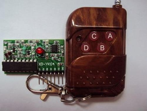 control remoto con 4 botones + modulo receptor, arduino