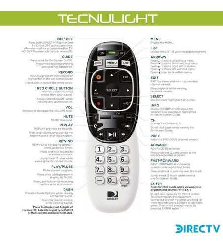 control remoto directv modelo rc73 entrega gratis en caracas