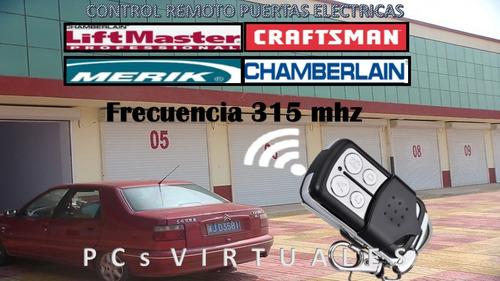 control remoto garage puertas electricas liftmaster/craftsm