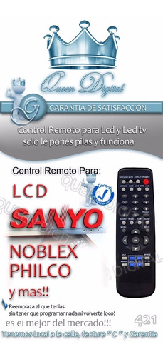 control remoto jxmts jxmit lcd philco noblex sanyo vizon