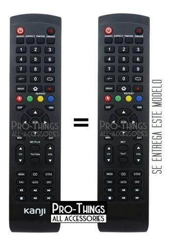 control remoto kanji smart tv netflix you tube kj-mn43-3
