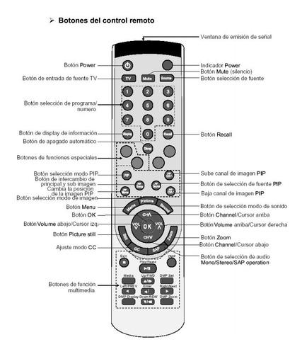 control remoto lcd 32 bgh bl3209s feelnology er-31951b tv