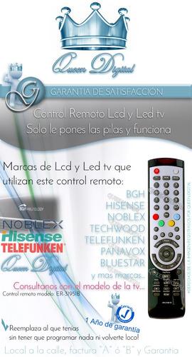 control remoto lcd bgh hisense telefunken bluestar er-31951b