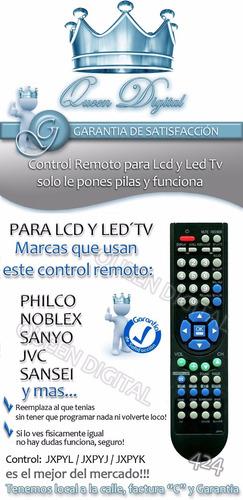 control remoto lcd jxpyj jxpyk jxpyl sanyo philco jvc noblex