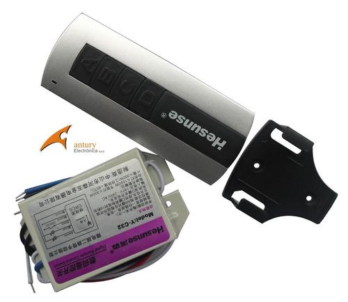 control remoto luz interruptor rf iluminación 110v domotica