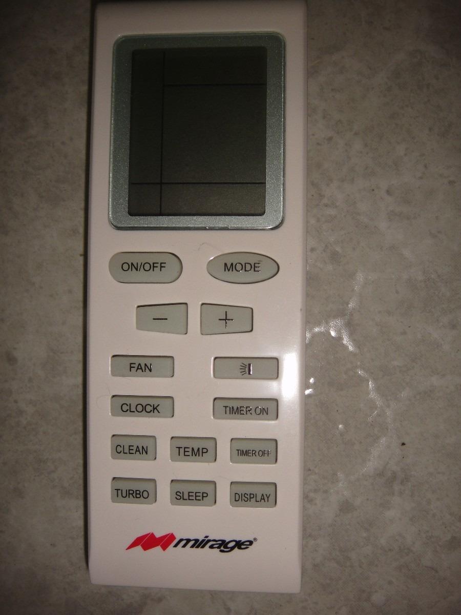 Control Remoto Mini Split Mirage Original 650 00 En
