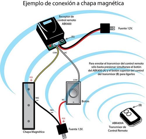 control remoto modulo receptor salida relevador inalambrico