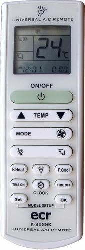 control remoto para aire acondicionado ranser configurado