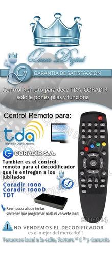 control remoto para tda coradir 1000 1000d decodificador