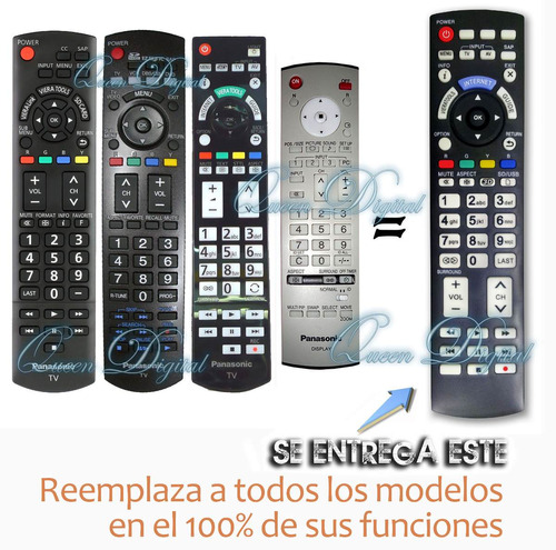 control remoto para todos los panasonic smart 3d lcd led tv
