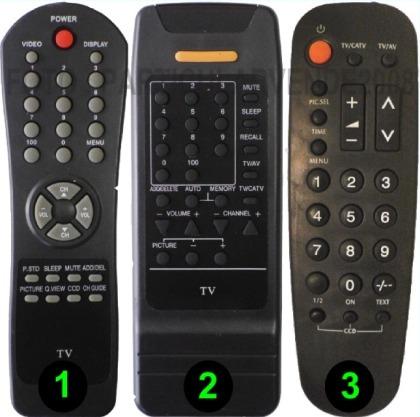control remoto para tv de tubo tecsonic -directo- envio