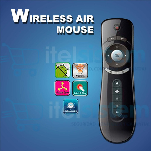 control remoto p/smart tv wireless black itelsistem