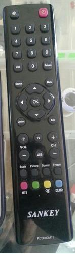 control remoto sankey para pantalla rc3000m11