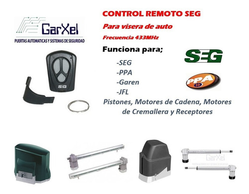 control remoto seg y ppa para puertas automáticas porton aut