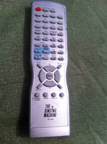 control remoto singing machine rc-800