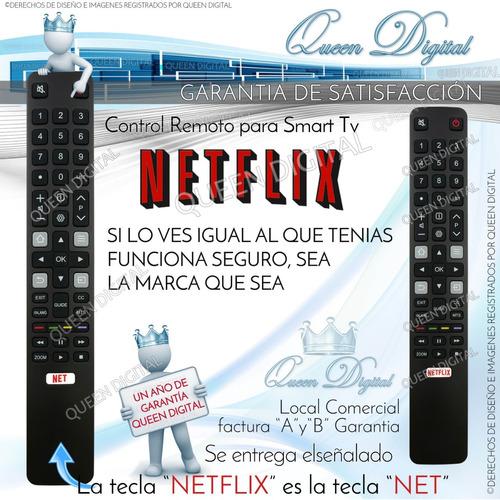 control remoto smart tv netflix tcl hitachi rca nxtsmartfs