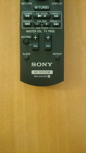 control remoto sony audio