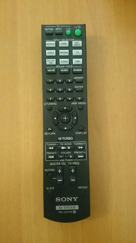 control remoto sony system audio original rm-aau135 nuevo!!!