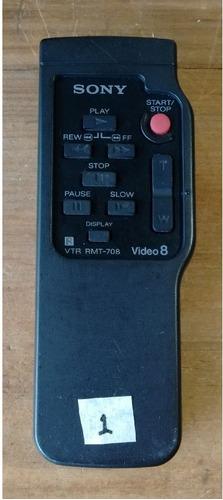 control remoto sony vtr rmt 708 video 8 filmadora orginal