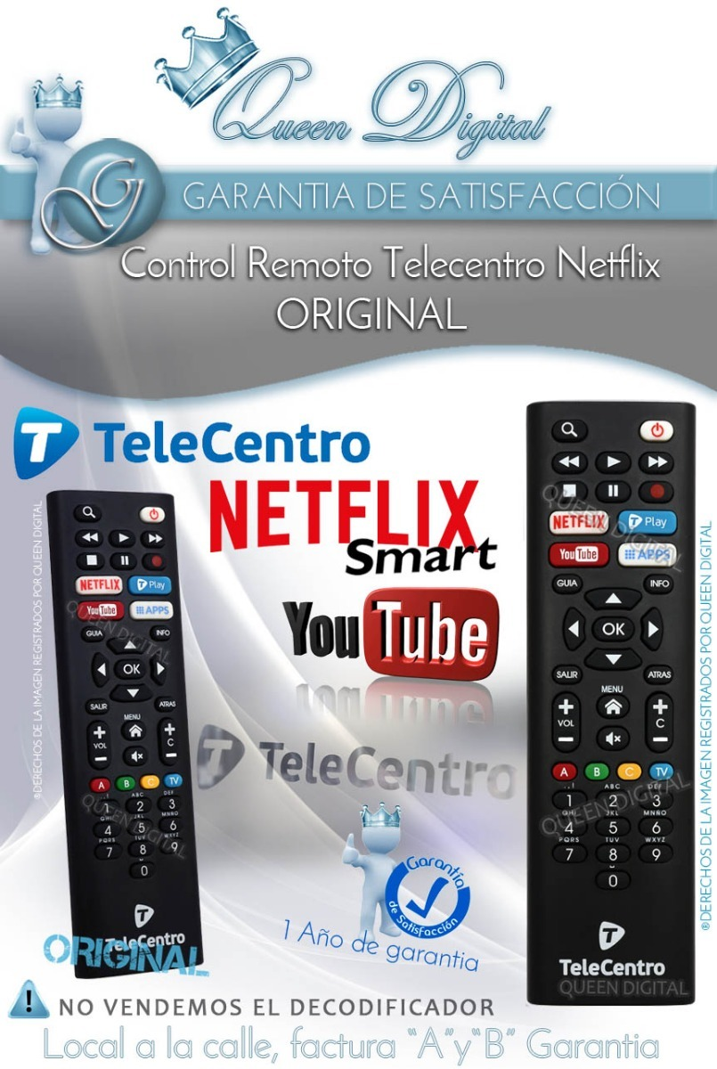 a4d3aa955ea control remoto telecentro netflix youtube original dciw303. Cargando zoom.