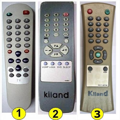 control remoto tv kiland directo no universal.