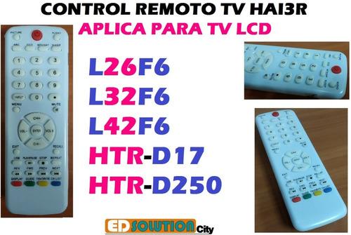 control remoto tv lcd hai3r l26f6