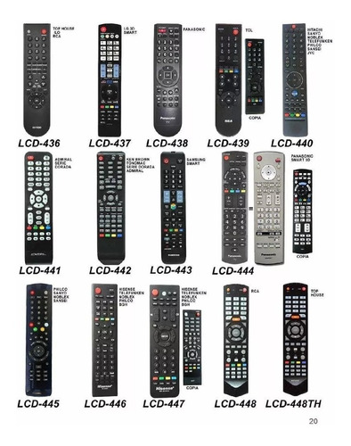 control remoto tv lcd led smart todas las marcas y modelos