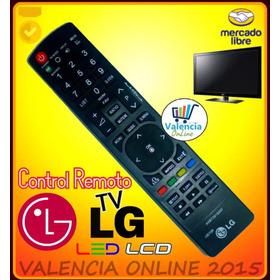 Control Remoto Tv Lg Lcd Led Y Plasma