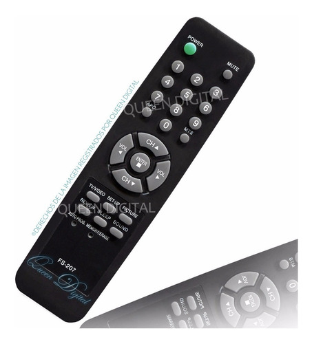 control remoto tv lg serie dorada g.electric ranser fs207