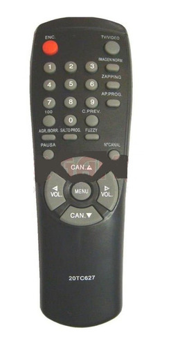 control remoto tv noblex samsung telefunken tc627 (0958)