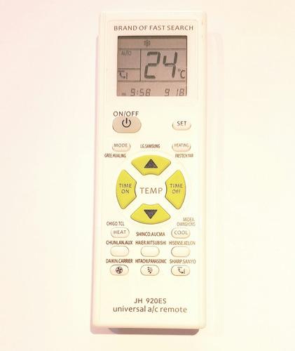 control remoto universal aire acondicionado lg samsung wh sy